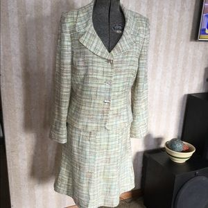 Tahari Boucle Tweed Suit